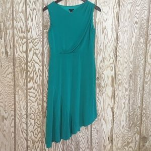 Ann Taylor stretch asymmetrical jersey dress szS